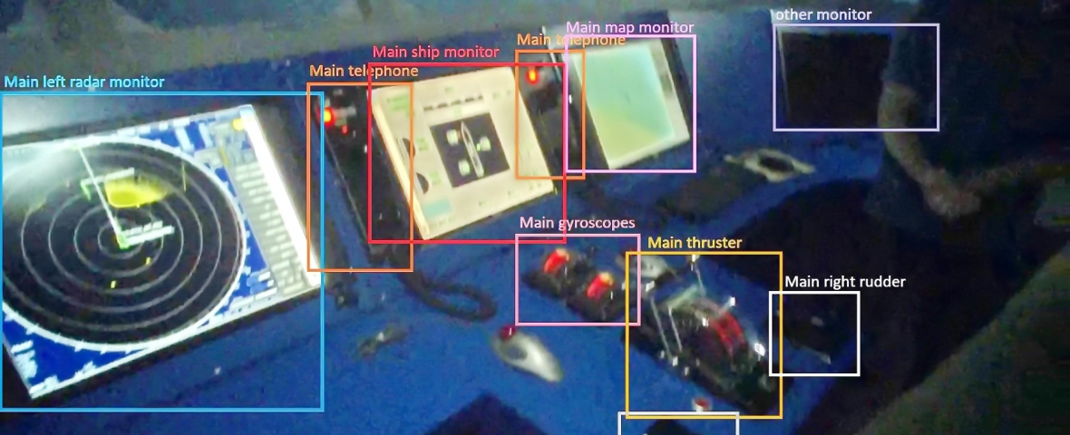 Ship's bridge and object detection