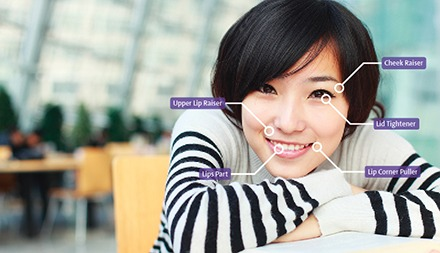 Asian Woman happy learning books Facereader