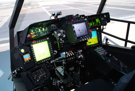 Boeing Apache helicopter cockpit simulator system