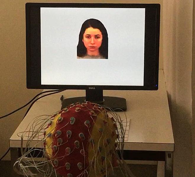 EEG vddonck KU Leuven woman on screen