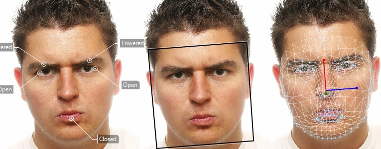 Facereader angry male grid three faces