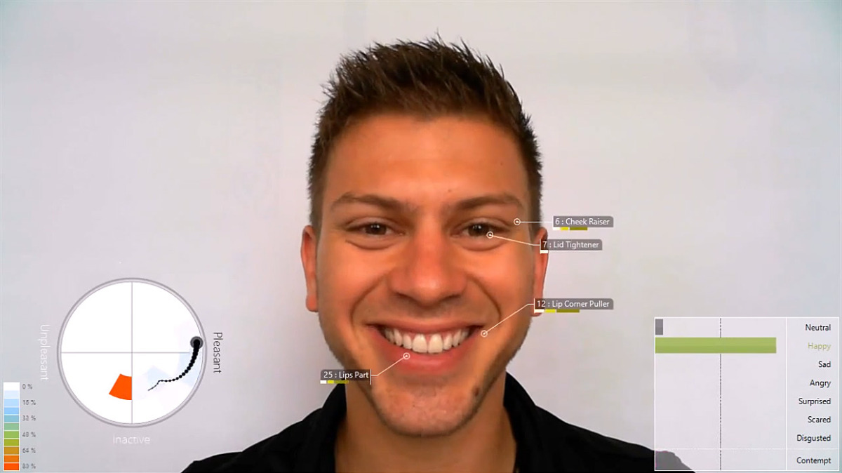 This video shows the realtime modeling capabilities of FaceReader