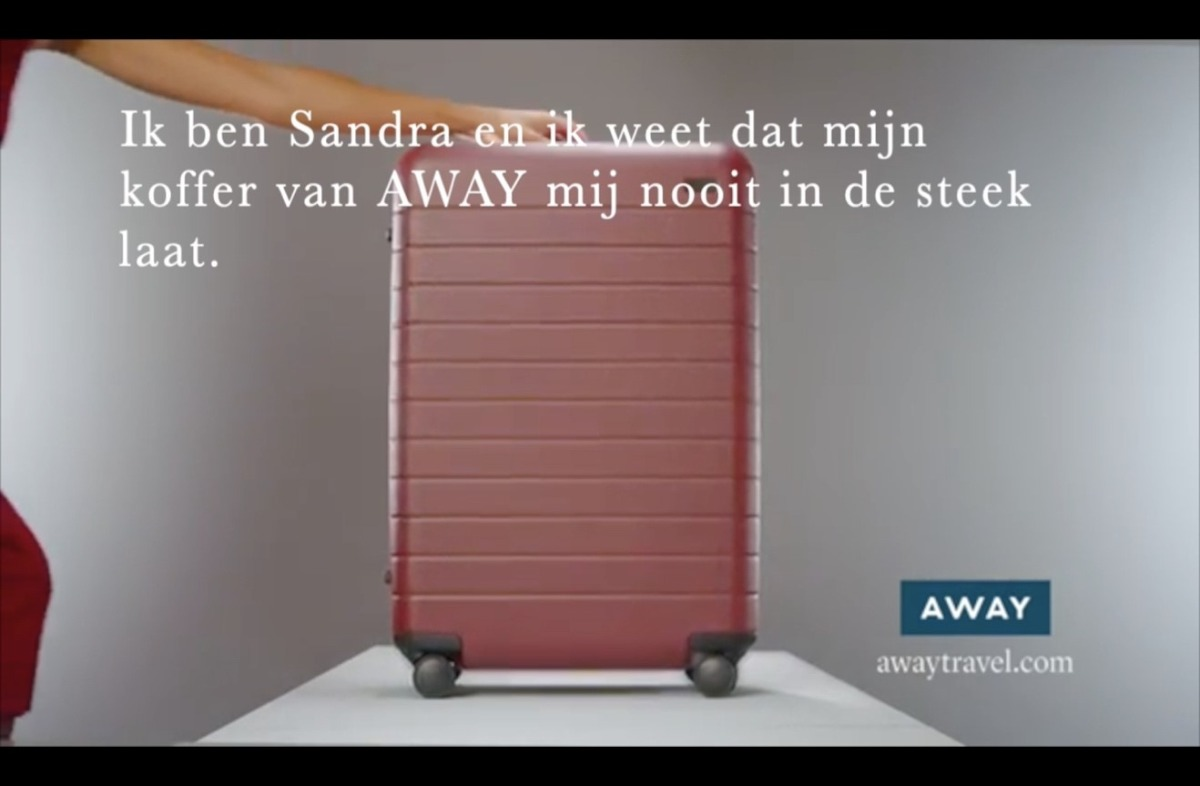 Ad including a customer-led storytelling message