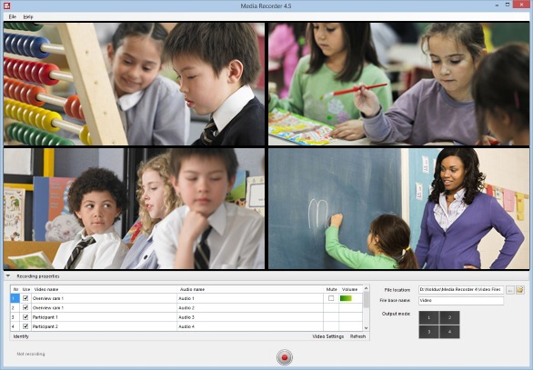 MediaRecorder kids classroom with preview