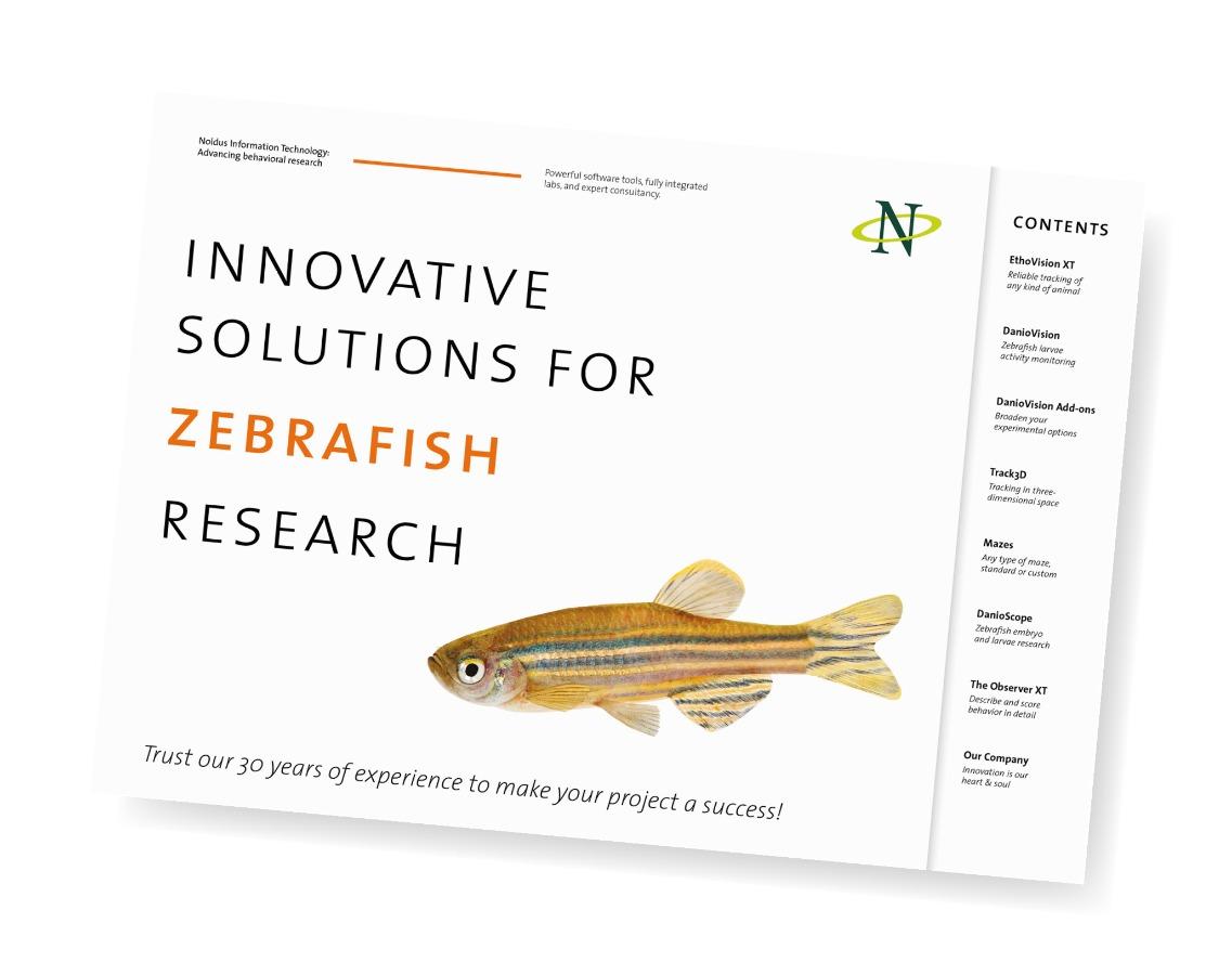 noldus product portfolio zebrafish