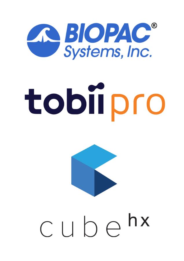 partner logos biopac tobii cube