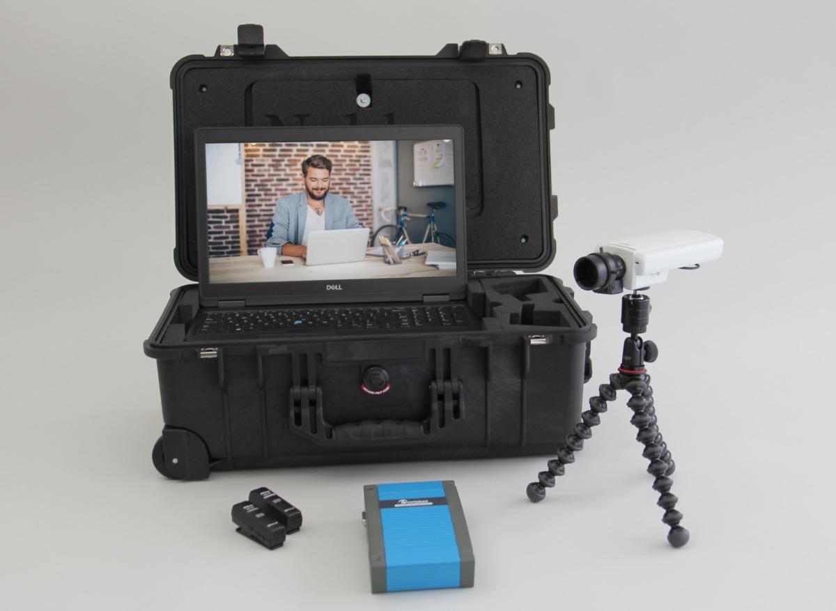 Portable Viso Lab advanced setup one camera and screen capture device ux