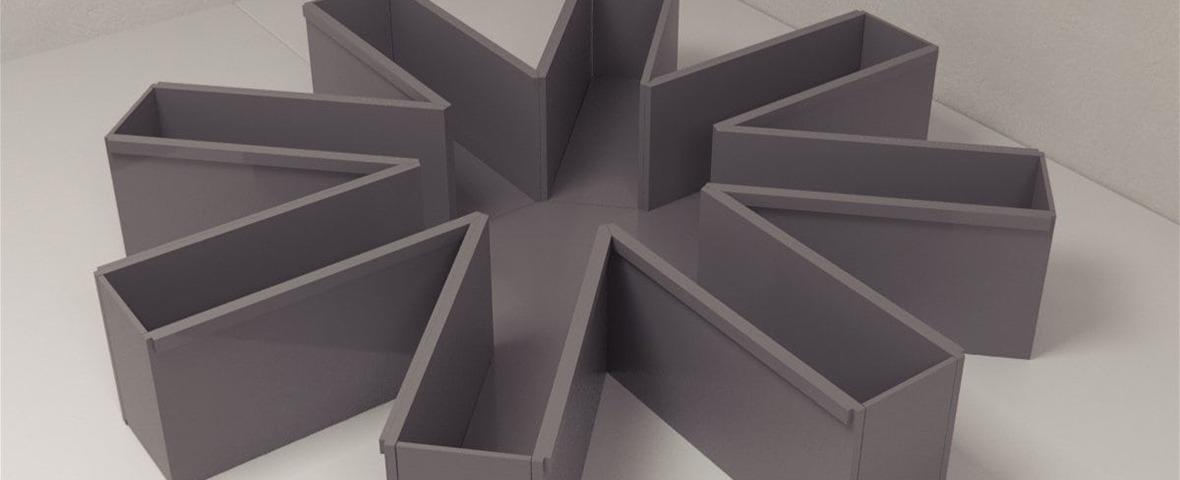 radial arm maze grey