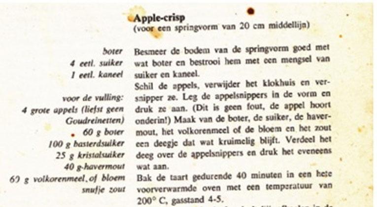 recipe for apple crisp