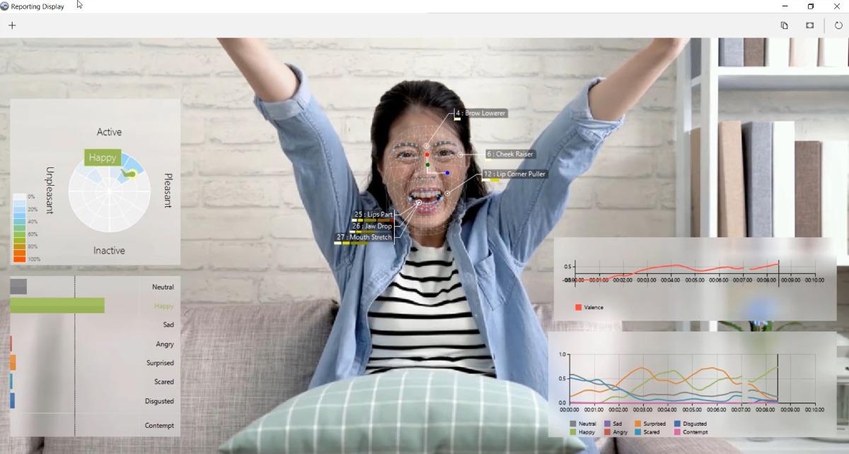 Screencapture Reporting Display FaceReader Gaming woman