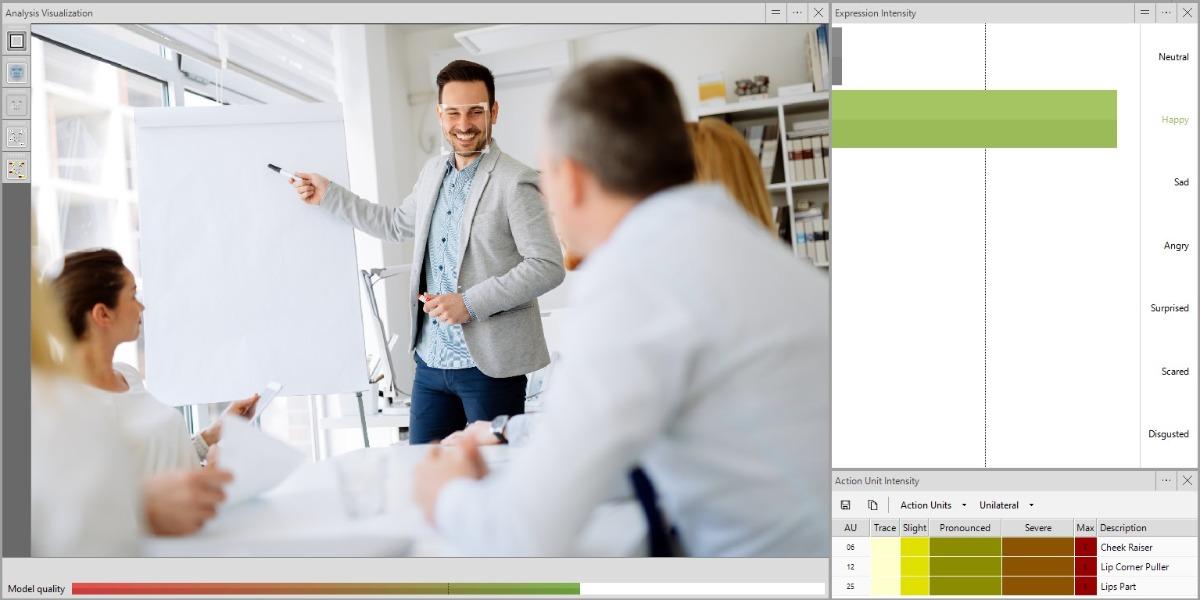 Screenshot FaceReader Happy Sales Pitch