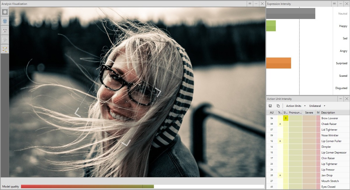 Improved face modelling with FaceReader