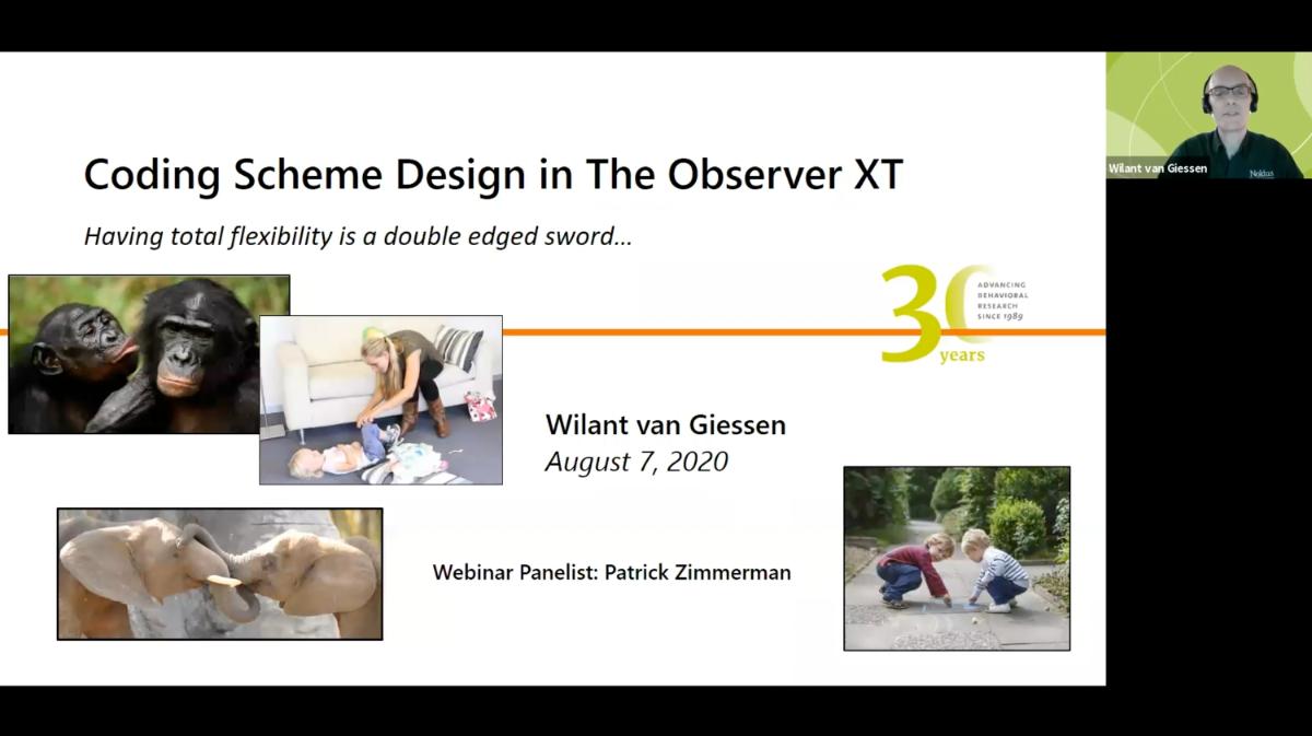 screenshot webinar behavioral coding