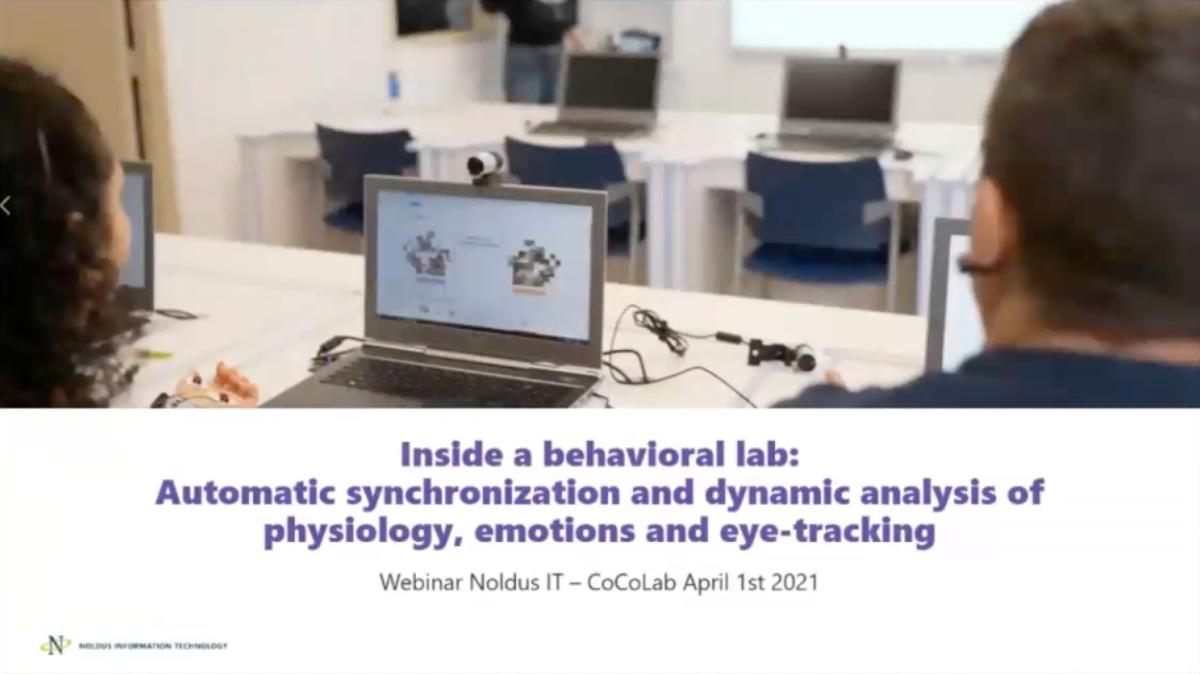 screenshot webinar behavioral lab