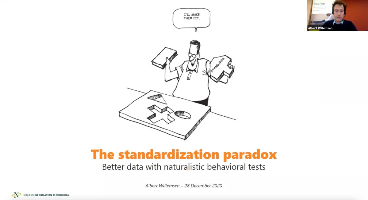 screenshot webinar standardization paradox