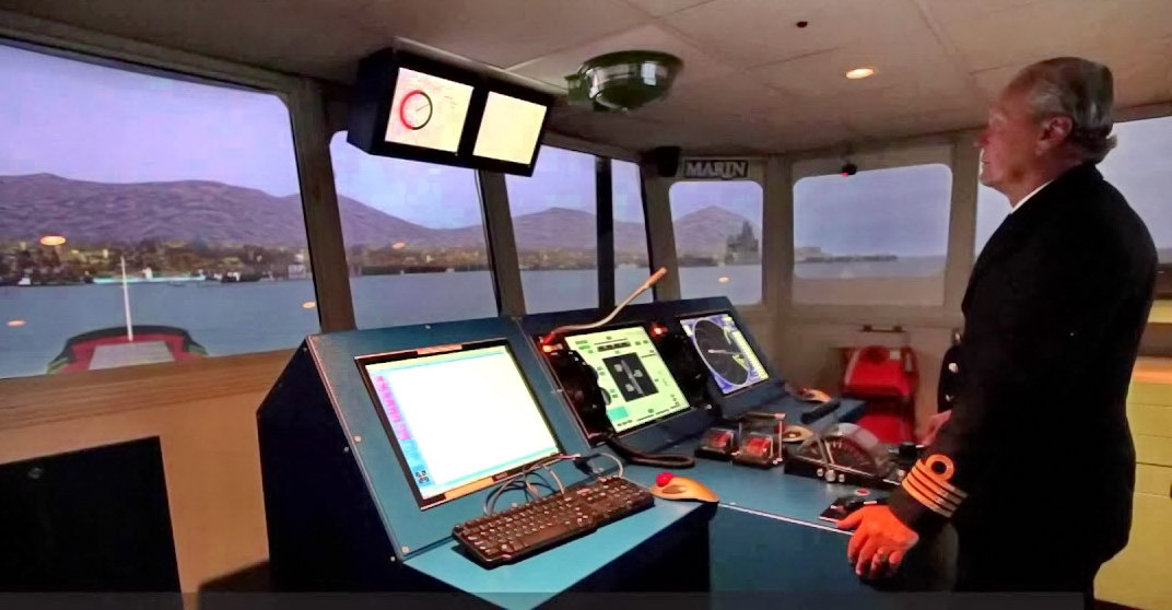 Ships bridge MARIN simulator