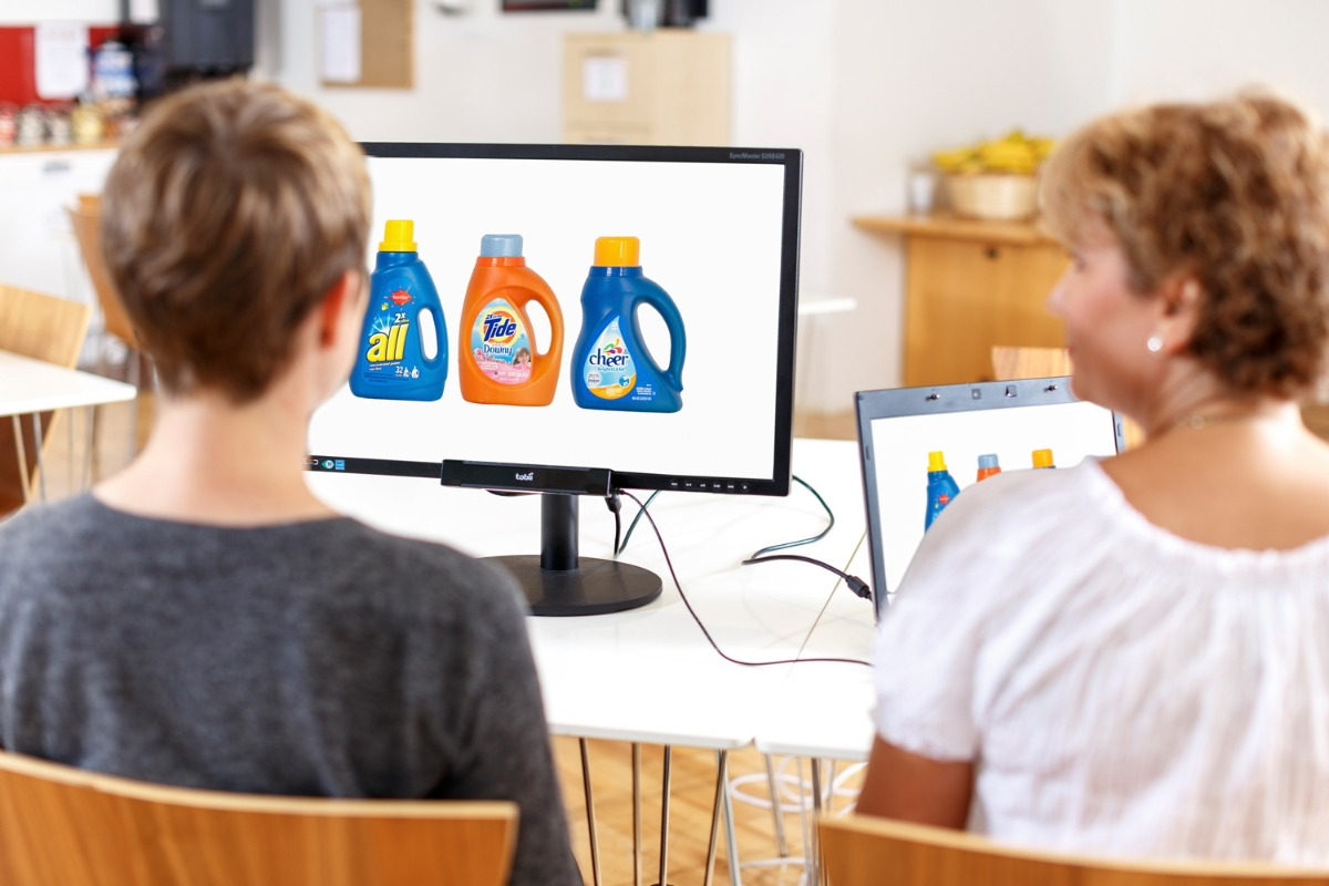 tobii eye tracking package design market research