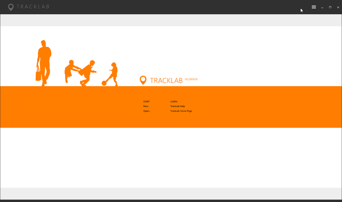tracklab screenshot start window