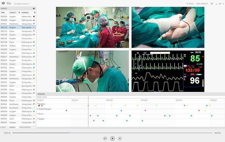 Annotate and analyze medical simulations with Viso