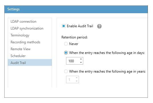Viso screenshot audit trail