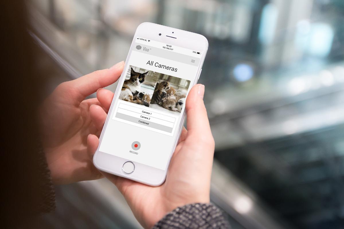 viso web app monitoring animals remotely